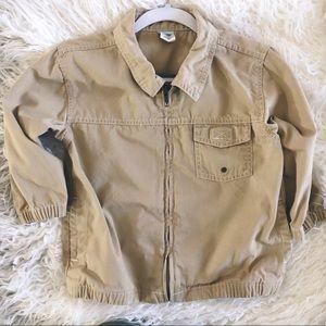 3T Toddler Boy khaki tan zip jacket lightweight ON